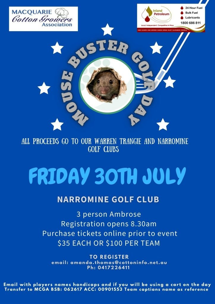 Macquarie Cotton Growers Golf day invite